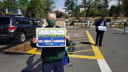 University of Washington workers say they need more Plexiglas barriers in the hospitals. (Justin Lee/Washington Federation of State Employees)