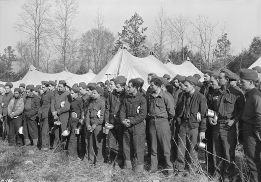 Civilian Conservation Corps members at a camp near Esco, Tenn. (Lewis Hine, U.S. National Archives and Records Administration/Wikimedia Commons)