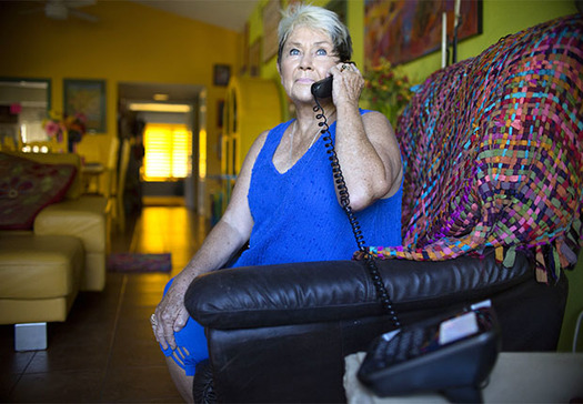 The FTC advises people to hang up and block any calls that promise early access to government coronavirus stimulus checks. (Sandy Huffaker/AARP)