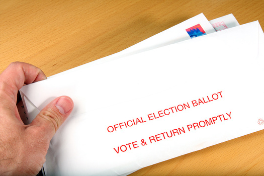 Mail-in ballots must be delivered to a county election bureau by 8 p.m. Tuesday. (Scott Van Blarcom/Adobe Stock)