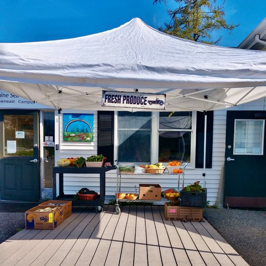 This Maine Seacoast Mission pantry in Cherryfield has expanded its hours to serve more people since the COVID-19 pandemic. (Maine Seacoast Mission/Facebook)