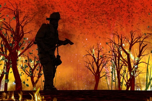 Crews fighting wildfires will have to add social distancing and sanitizing equipment to their skill set in order to battle blazes this year. (bekireveren/Adobe Stock)