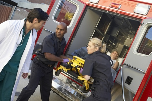 About 22,000 EMS workers are treated in U.S. emergency rooms for their own work-related injuries each year. (Adobe Stock)