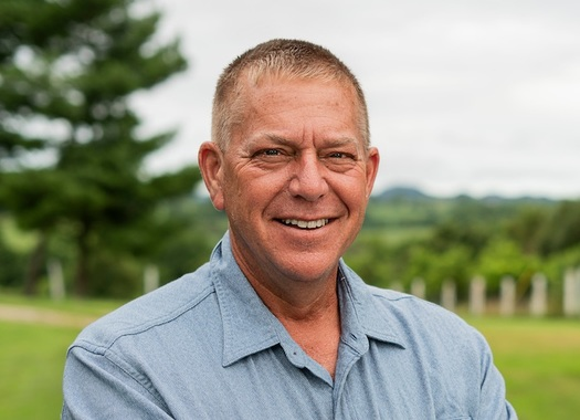 Mike Broihier, a former U.S. Marine Corps officer and a farmer in Lincoln County, is the third Democrat to throw his hat in the race to challenge GOP Sen. Mitch McConnell in November. (Broihier Campaign)