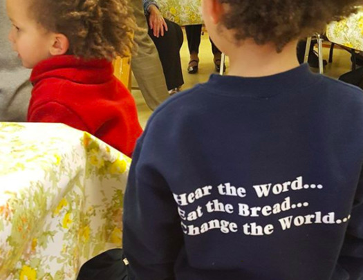Young congregants of the Maine Episcopal Church. (Bishop Thomas Brown/Instagram)