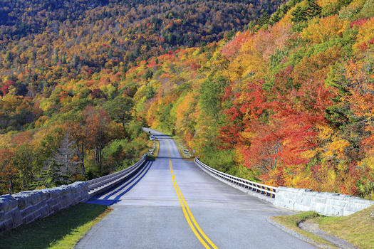 The Civilian Conservation Corps helped build the Blue Ridge Parkway in North Carolina. (Adobe Stock)