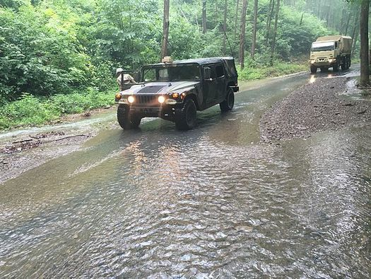 Virginia has seen an increase in flooding over the past 10 years, including this flood in Allegheny County in 2016. (Virginia National Guard)