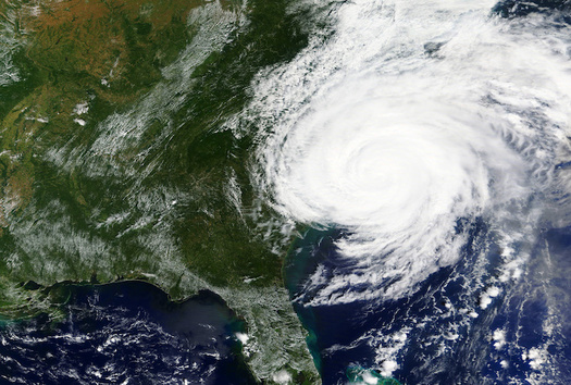 Hurricane Florence hits the east coast of the United States in September 2018. (NASA/Adobe Stock)