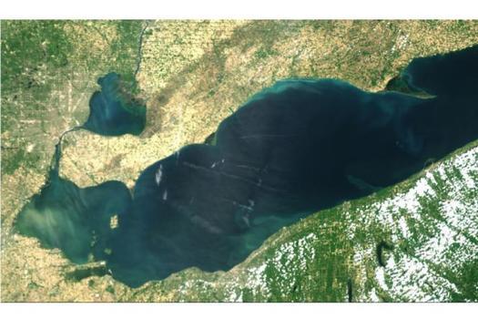 A June 20 satellite image of Lake Erie's Western Basin. (NOAA)