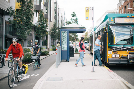 Bus Rapid Transit lines have helped transform communities across the globe, boosting local economies. (Adam Coppola Photography/Flickr)