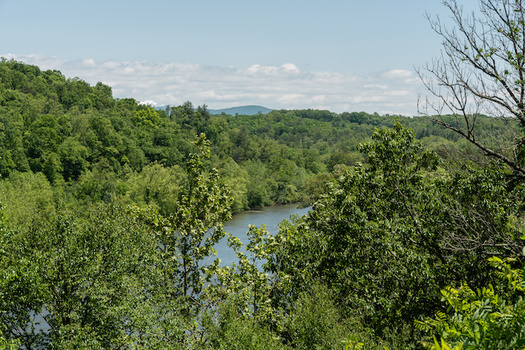 The French Broad River flows through the city of Asheville, N.C. (Adobe Stock)