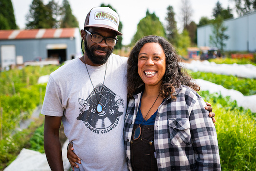 Mudbone Grown co-farm managers Art Shaver and Shantae Johnson are heading an effort to provide relief for Black Oregonians during the pandemic. (Mudbone Grown)