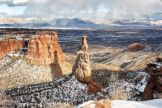 Independence Monument Overlook is one the scenic canyons found at the Colorado National Monument, part of the state's 22 million acres of public lands. (BLM/Flickr)
