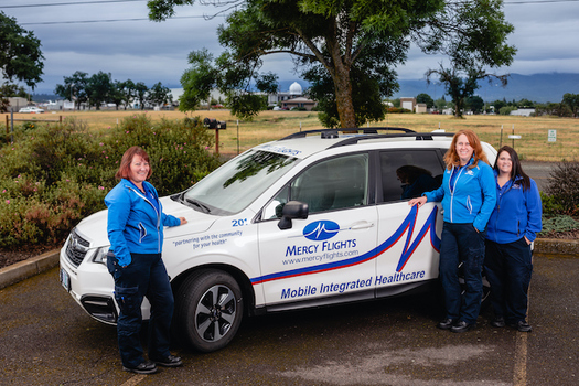 Mercy Flights' mobile paramedics can offer up to 30 days of transitional support after someone is discharged from the hospital. (Jason Quigley)