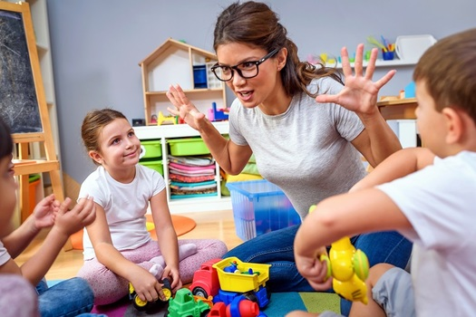 Childcare will be an important factor when Arizona parents need to return to work, but the COVID-19 crisis has sidelined many of the state's providers and caregivers. (lordn/Adobe Stock)