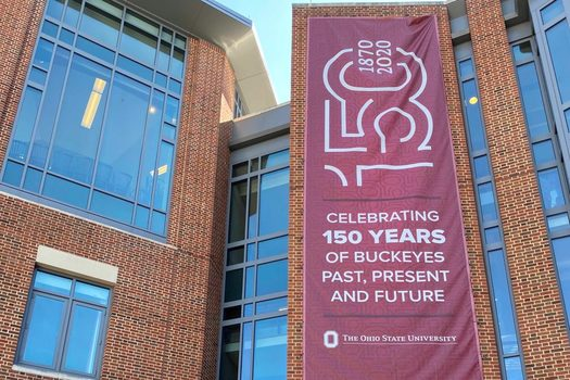 The entrance to Ohio State University's student union celebrates the school's founding. (AdobeStock)