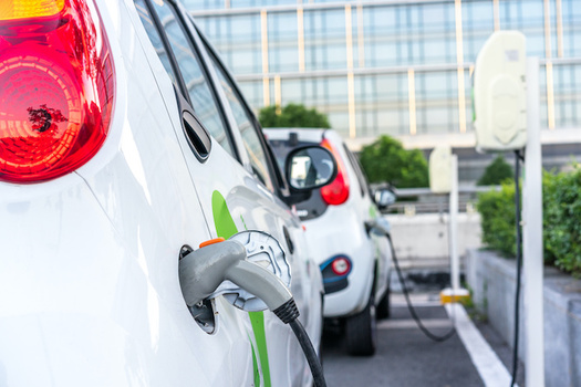 """The Public Service Commission's """"make ready"""" program could help add 50,000 vehicle charging stations in New York. (THINK b/Adobe Stock)"""