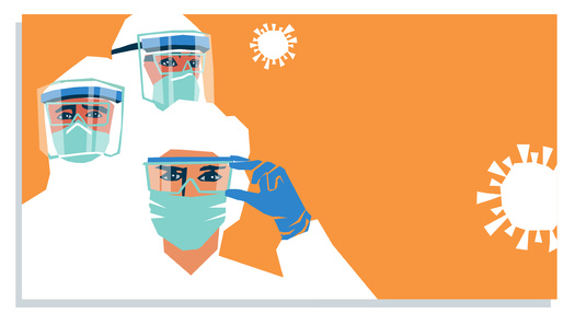 PPE shortages have forced some health-care workers to recycle single-use respirators. (insta_photos/Adobe Stock)