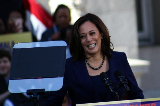 """California, home of Democratic Party vice presidential nominee Sen. Kamala Harris, ranks 10th in a national survey of """"Best & Worst States for Women's Equality."""" Arizona ranks fifth. (Davey D Cook/Flickr)"""