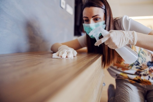 Dust can absorb potentially harmful chemicals found in disinfectant cleaners. (Adobe Stock)