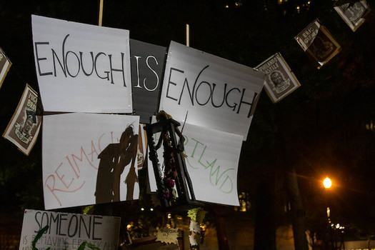 Protests for racial justice have continued every night in Portland for more than three months. (David Geitgey Sierralupe/Flickr)