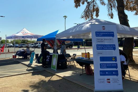 Volunteers with OneArizona helped thousands of Arizonans register to vote during the spring and summer, and are re-contacting them before Election Day to make sure they have a plan to cast their ballot. (OneArizona)
