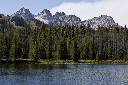 A proposed cellphone tower would be near a popular recreation site, Redfish Lake, in Idaho's Sawtooth National Recreation Area. (Riley Yerkovich/Flickr)