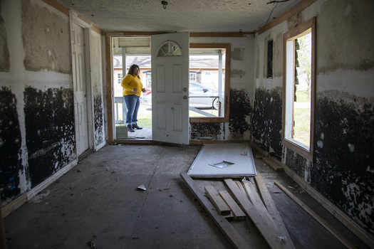 Sellers, S.C., Mayor Barbara Hopkins shows homes damaged by repeated flooding and hurricanes on Feb. 13, 2020. Homeowners without clear titles on their property have faced challenges receiving disaster aid and are ineligible for some programs. (Joshua Boucher jboucher@thestate.com)