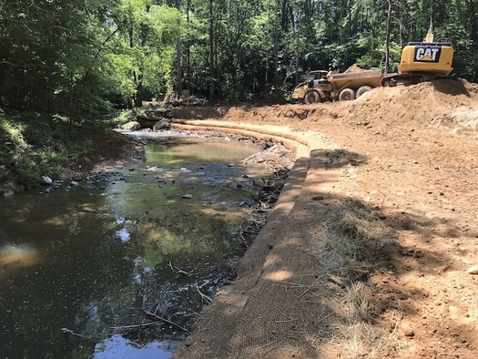 The superintendent of Pilot Mountain State Park in Pinnacle, North Carolina, reached out to Resource Institute for a solution to stop erosion for one of its streams. (Paula Worden)