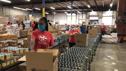More Marylanders are turning to food banks as poverty increases during the pandemic. (Maryland Food Bank)