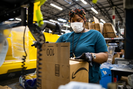 "A class-action lawsuit claims Amazon ""knowingly subjected its majority minority line workers to unsafe work conditions"" as compared with white managers. (Amazon)"