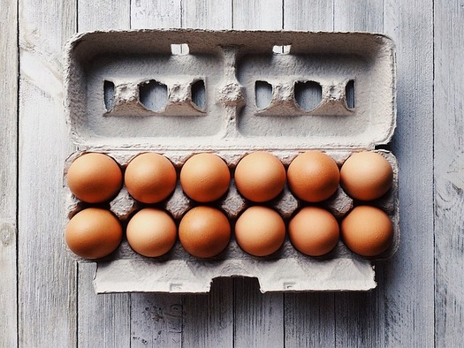 Demand for eggs spiked in mid-March when states rolled-out COVID-19 stay-at-home orders, creating shortages at grocery stores. (Wokandapix/Pixabay)