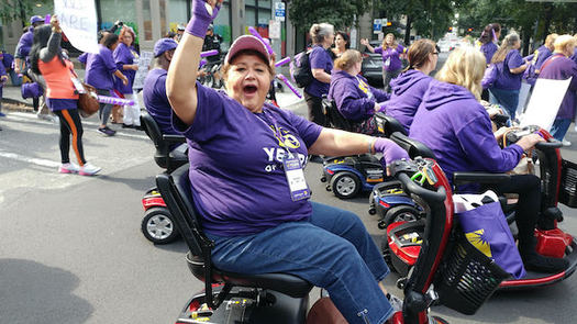 Olga García is among the in-home caregivers concerned about how Washington state budget cuts will affect their clients and their livelihood. (SEIU 775)