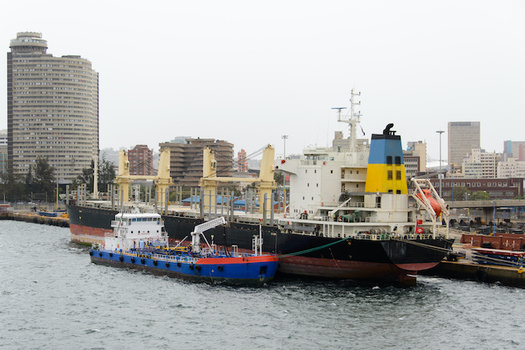 A coalition says New York still has state subsidies for cargo-ship bunker fuel, one of the most carbon-polluting fuels still in use. (Alexey Seafarer/Adobe Stock)