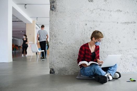 Alrededor del 80% de los estudiantes universitarios por primera vez encuestados tuvieron comentarios positivos sobre su experiencia educativa en el otoño de 2020. (Adobe Stock)