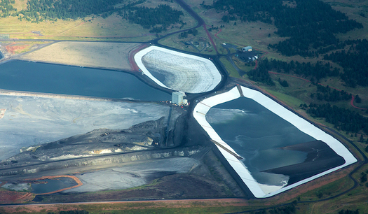 The coal ash ponds for retired Units 1 and 2 of Colstrip leak 400,000 gallons of contaminated water per day. (Western Organization of Resource Council)