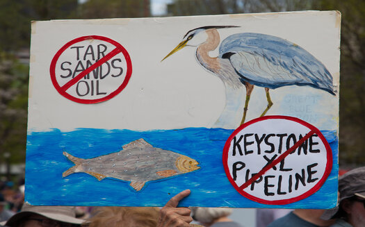 Environmental and tribal groups say the Keystone XL is concerning because plans involved carrying oil from tar sands, the production of which is carbon intensive. (Adobe Stock)