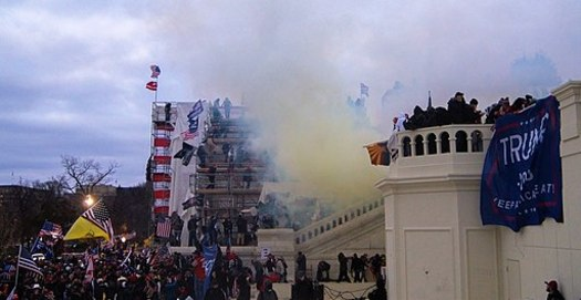 The Capitol Police used tear gas to try to repel rioters at the U.S. Capitol on Jan. 6. (Tyler Merkler/Wikimedia Commons)