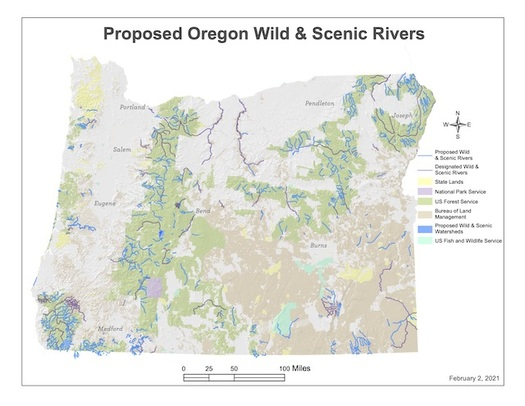 A proposed 4,700 miles of protected rivers and streams in the River Democracy Act are located across Oregon. (Wyden.Senate.gov)