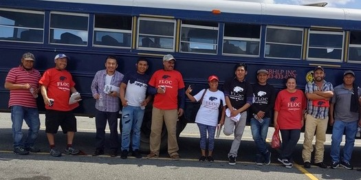 Members of the Farm Labor Organizing Committee filed a class-action lawsuit against a North Carolina farm labor contractor over stolen wages.(FLOC)