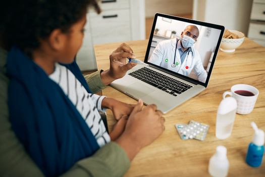 Nearly 70% of voters say they've used telemedicine services during the pandemic, and are likely to do so again. (Drazen/Adobe Stock)