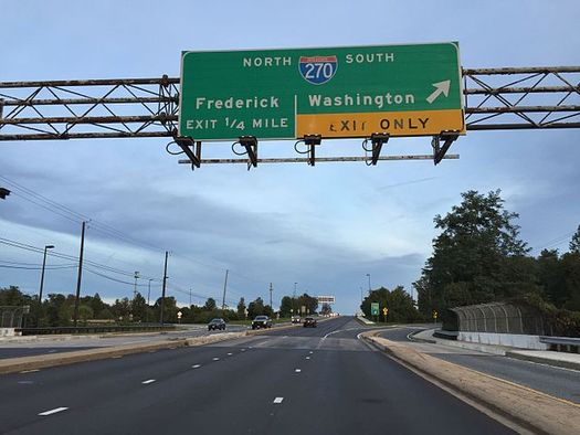 Maryland officials originally said no homes would be destroyed during construction of new toll lanes on Interstate 270, but revised plans indicate some will. (Wikimedia Commons)