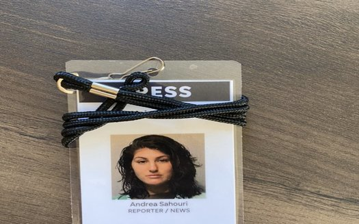 Des Moines Register reporter Andrea Sahouri said she was tear-gassed and pepper-sprayed while being arrested for covering a Black Lives Matter protest last year. (courtesy of Sahouri)
