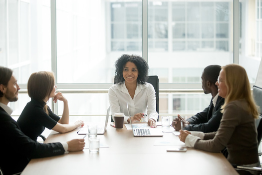 Black people are especially under-represented on corporate boards of directors; 33 companies reported having zero African-American or Black directors. (fizkes/Adobe Stock)