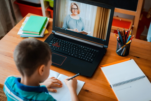 Some Virginia grandparents raising grandchildren have had difficulties helping them navigate computers for online learning during the pandemic. (Adobe Stock)
