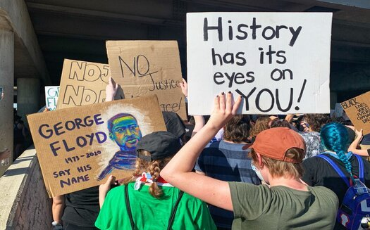 Groups holding demonstrations outside the Derek Chauvin trial say they don't just want a conviction over the killing of George Floyd. They say city and state leaders have yet to adopt meaningful police reforms. (Adobe Stock)
