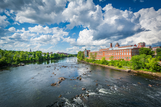 The Merrimack River watershed runs from the White Mountains down to the ocean in Newburyport, Mass. (jonbilous/Adobe Stock)