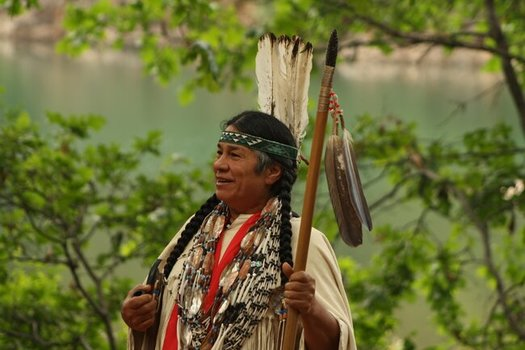 Chief Caleen Sisk of the Winnemem Wintu Tribe opposes efforts to raise the Shasta Dam and enlarge the reservoir because it would flood her tribe's ancestral lands. (Winnemem Wintu Tribe)