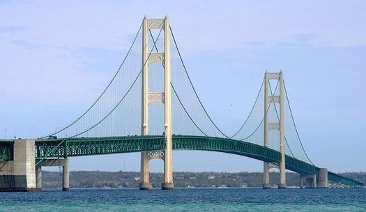 Enbridge Inc.'s Line 5, which runs through the Straits of Mackinac, has spilled more than 1 million gallons of fossil fuels into waters since 1968, according to researchers. (Wikimedia Commons)