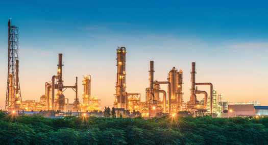 A 2015 Clean Air Act rule requires refineries to clean up benzene emissions when annual concentrations of this cancer-causing pollutant exceed the EPA's action level of 9 micrograms per year. (Adobe Stock) <br />